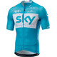 Castelli Team Sky Aero Race 5.2 SS Jersey Full Zip Men sky blue